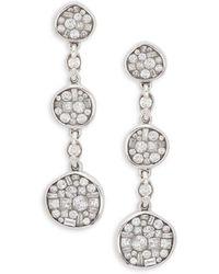 Plevé - Pebble 18k White Gold & Diamond Triple Drop Earrings - Lyst