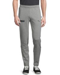 PUMA Men's Logo Cotton-blend Sweatpants - Grey - Size M