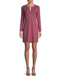 Diane von Furstenberg Reina Star-print Dress - Red