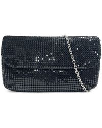 Badgley Mischka Chainmail Convertible Clutch - Black