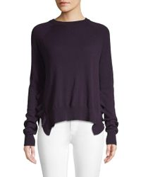 Autumn Cashmere - Ruffle-trimmed Cashmere Sweater - Lyst