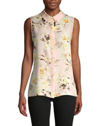 Karl Lagerfeld Floral-print Sleeveless Shirt - Multicolour