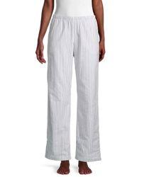 Hanro Women's Striped Cotton Trousers - Azurite - Size S - Multicolour