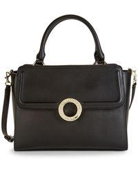 Karl Lagerfeld Top-zip Faux Leather Satchel - Black
