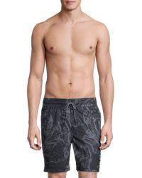 Hurley Print Volley Swim Shorts - Blue