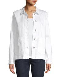 Eileen Fisher Organic Cotton Denim Jacket - White