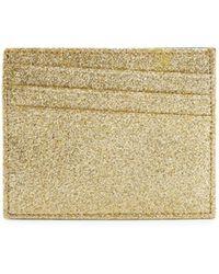Maison Margiela Natural Glitter Leather Card Case
