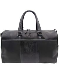Robert Graham Chatsworth Leather Weekender Bag - Black