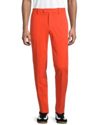 J.Lindeberg Women's High Vent Golf Trousers - True Blue - Size 32 32 - Red