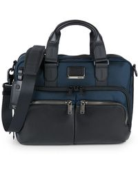 Tumi Albany Slim Textile & Leather Commuter Brief Bag - Blue