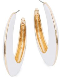 Ava & Aiden Goldtone Open Hoop Earrings - Pink