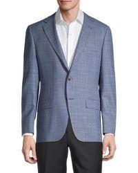 Hickey Freeman Men's Regular-fit Milburn Wool & Silk-blend Blazer - Blue - Size 44 R