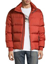 Moose Knuckles Maginot Quilted Puff Jacket - Red
