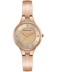 BCBGMAXAZRIA - Classic Rose Goldtone Stainless Steel & Crystal Bangle Bracelet Watch - Lyst
