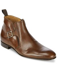 Massimo Matteo - Solid Leather Chelsea Boots - Lyst