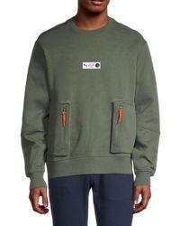 PUMA - Men's Parquet Sweatshirt - Green - Size S - Lyst