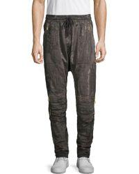 Robin's Jean - Printed Cotton Fleece Jogger Pants - Lyst