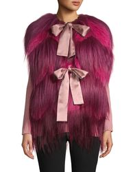 Dolce & Gabbana Goat & Fox Fur Vest - Pink