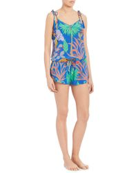 Lazul - Sasa Silk Short Jumpsuit - Lyst