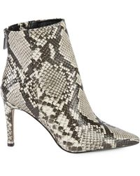 Kenneth Cole Raine Snakeskin-embossed Ankle Boots - White