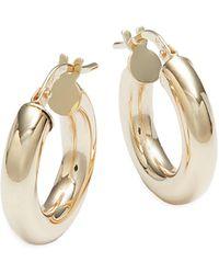 Saks Fifth Avenue 14k Yellow Gold Hoop Earrings - Metallic