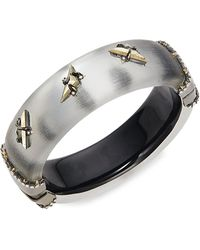 Alexis Bittar 10k Gunmetal-plated & Multi-stone Bangle Bracelet - Multicolor