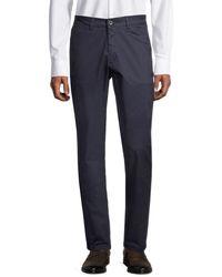 Ben Sherman Slim-fit Stretch-cotton Pants - Blue
