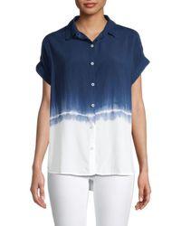 Beach Lunch Lounge Spencer Tie-dye Shirt - Blue