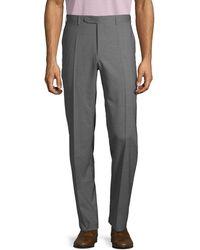 Canali Regular-fit Wool Pants - Gray