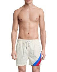 Solid & Striped Men's The Classic Striped Swim Shorts - White Stripe - Size M
