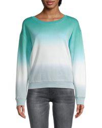 Splendid Tie-dyed Cotton-blend Sweatshirt - Blue