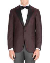 Isaia - Peak Lapel Wool Dinner Jacket - Lyst