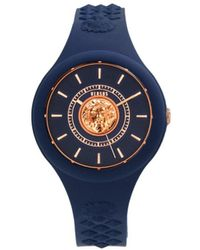 Versus Women's Stainless Steel & Silicone Watch - Blue