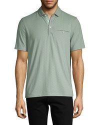 Saks Fifth Avenue Textured Cotton-blend Polo - Green