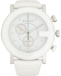 Gucci Stainless Steel & Rubber-strap Chronograph Watch - White