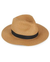 Vince Camuto - Banded Fedora Hat - Lyst