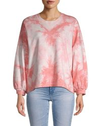 Rebecca Minkoff Women's Tie-dyed Cotton Jumper - Pink Tie Dye - Size Xs