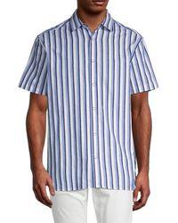 Karl Lagerfeld Regular-fit Striped Shirt - Blue