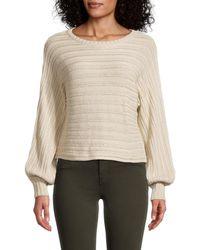 Olive & Oak Blouson-sleeve Sweater - Multicolor