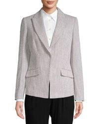 CALVIN KLEIN 205W39NYC - Textured Tweed Jacket - Lyst
