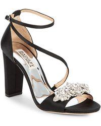 Badgley Mischka - Vanda Embellished Sandals - Lyst