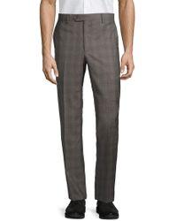 Saks Fifth Avenue - Plaid Wool Pants - Lyst