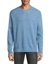 Tommy Bahama - New Flip Side Pro Abaco Splitneck Cotton Sweatshirt - Lyst