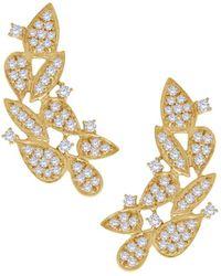 Hueb Women's 18k Yellow Gold & 0.63 Tcw Diamond Gala Earrings - Metallic
