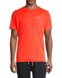 PUMA Men's Run Favorite Heathered T-shirt - Orange - Size M