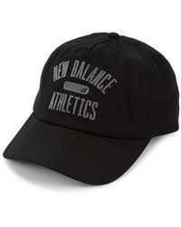 New Balance Logo Cotton Baseball Cap - Black