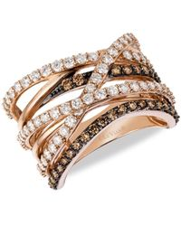 Le Vian Chocolatier® 14k Strawberry Gold®, Vanilla & Chocolate Diamond® Ring/size 7 - Brown