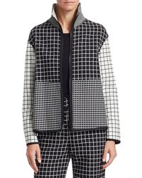 Akris Punto - Mixed Grid Zip-front Jacket - Lyst
