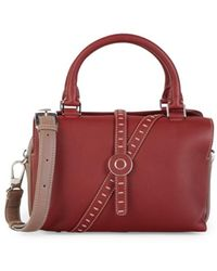 Loro Piana Bridle P. Leather Two-way Bag - Red