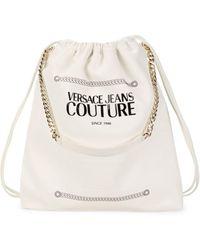 Versace Jeans Couture Women's Logo Drawstring Bag - Nero - Black